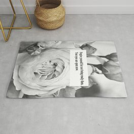 Word and Roses Rug