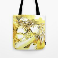 yaoi Tote Bags featuring Close to you by Fireangels