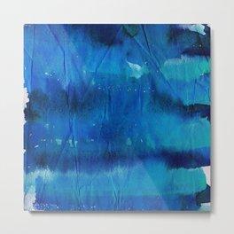 Crumpled Paper Textures Colorful P 665 Metal Print