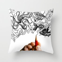 Welcome to my mind. Fasten your seatbelt and enjoy the ride. Throw Pillow