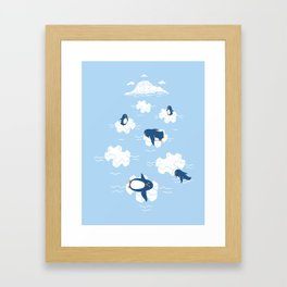 Puzzle Ice  Framed Art Print