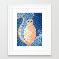 larry Framed Art Prints featuring Larry by Artist Fran Doll