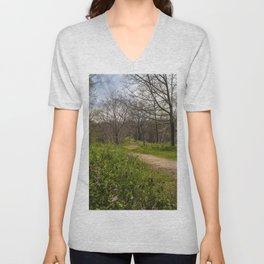 Troubled summer woods Unisex V-Neck