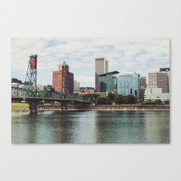 Urban Portland City Scape Canvas Print