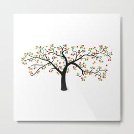 Gumdrop Tree Metal Print