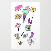 Girly Obsessions Art Print