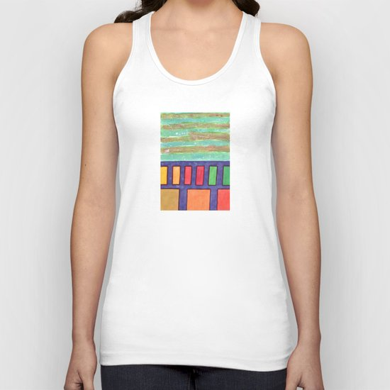 Building with colorful Windows Unisex Tank Top