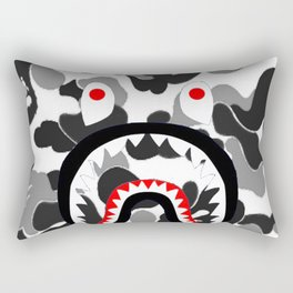 Bape Camo Black Rectangular Pillow