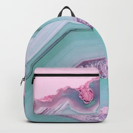 Sea Blue and Pink Agate Backpack