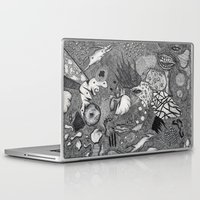 surrealism Laptop & iPad Skins featuring Improvisation Psychedelic Surrealism by It's Later Than You Think