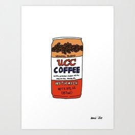 UCC Canned Coffee Art Print