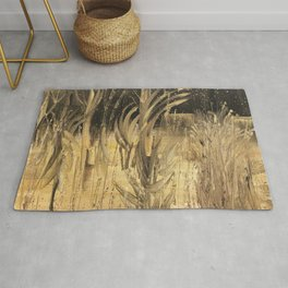 Golden Pond ~ 'Reeds of Change' Collection by Clare Boggs Rug