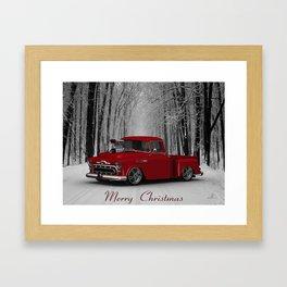 #MerryChristmas 57 3100 Truck by @ernhrtfan Framed Art Print