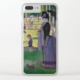 Georges Seurat - A Sunday Afternoon on the Island of La Grande Jatte Clear iPhone Case