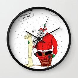Shitty Christmas Wall Clock