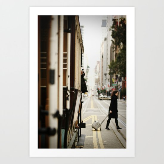 Cable Car Crossing Art Print