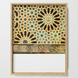 """""""Mexuar room"""". Details in The Alhambra Palace.  Serving Tray"""