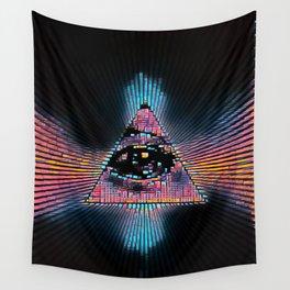 Dark Illuminati Pyramid Wall Tapestry