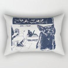 I Watch You Poop... and I Judge Rectangular Pillow
