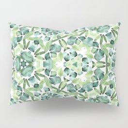 Green petal kaleidoscope  Pillow Sham