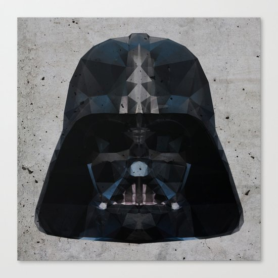 darth vader low poly Canvas Print