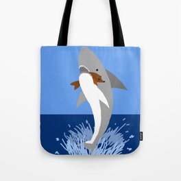 This is a Shark Attack Tote Bag