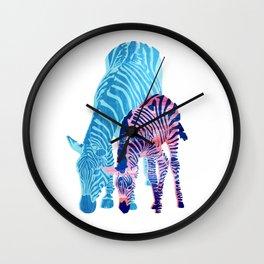 Striped Love (white) Wall Clock