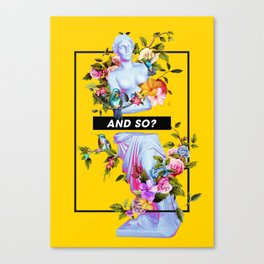 Vaporwave Venus with Flowers Canvas Print