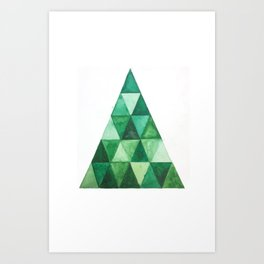 GEOMETRIC TREE Art Print