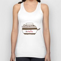 nutella Tank Tops featuring Nutella Cat by Wis Marvin