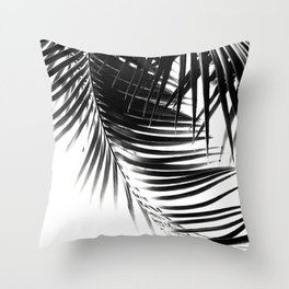 Palm Leaves Black & White Vibes #1 #tropical #decor #art #society6 Throw Pillow