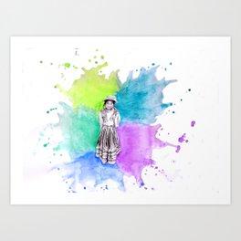 Peru Girl Art Print