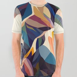 Mountains original All Over Graphic Tee