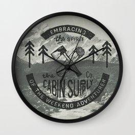 CABIN SUPPLY - weekend adventurer Wall Clock