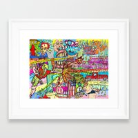 league Framed Art Prints featuring Mutant League by Rat McDirtmouth