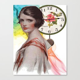 GIRL VINTAGE Pop Art Canvas Print