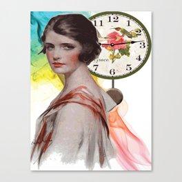 GIRL VINTAGE Pop Art Canvas Print