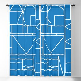 Kaku Blue 2 Blackout Curtain