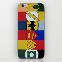 justice league iPhone & iPod Skins featuring Justice Logo's by iankingart