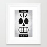 grim fandango Framed Art Prints featuring GRIM FANDANGO - OLD SCHOOL, OH, IT'S COOL! by Be Yourself