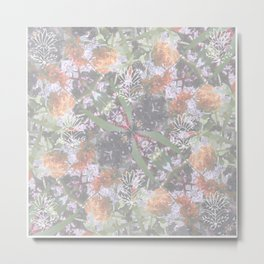 Wildflowers Square Mandala - All over Print Metal Print