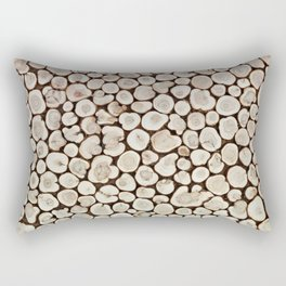 Background of wooden slices tree Rectangular Pillow