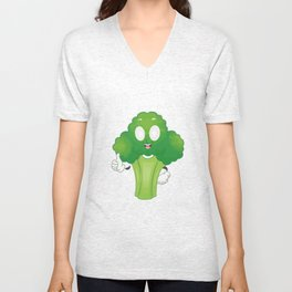 Funny Rollin' Up My Broccoli Vegetable Weed Unisex V-Neck