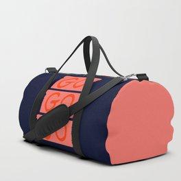 GO GO GO #society6 #motivational Duffle Bag