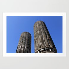 marina city // wilco towers Art Print