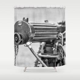 Vickers Machine Gun Shower Curtain
