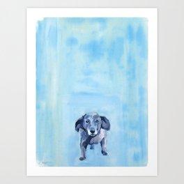 The Dachshund Strut Art Print