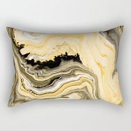 Painted Gold Rectangular Pillow