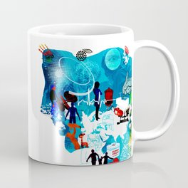 Collage of transplants Coffee Mug