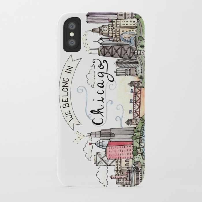 we belong in chicago iphone case